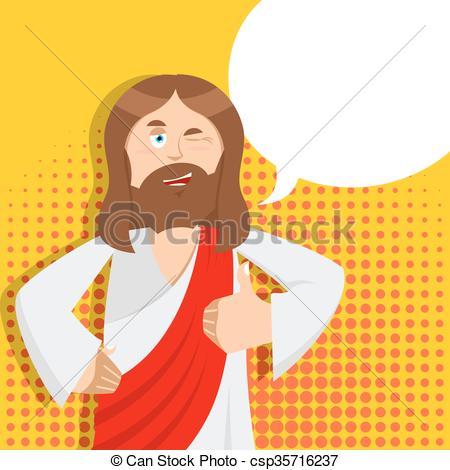 Stock Illustration of JESUS.