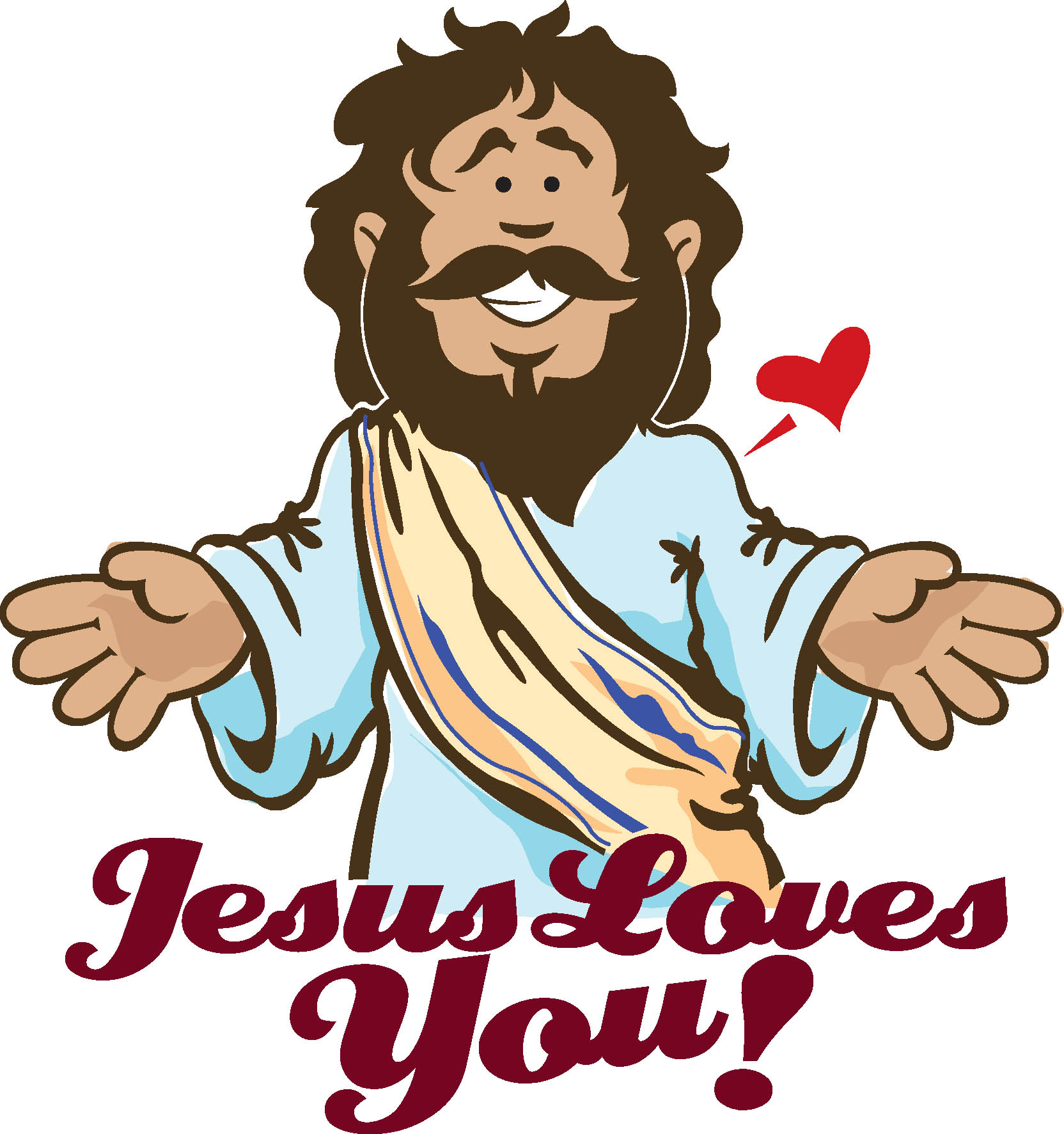 Jesus as Son of God Clip Art.