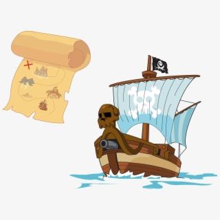 Treasure Island Piracy Treasure Map.