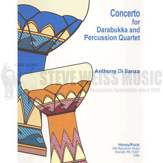 Concerto for Darabukka and Percussion Quartet by Anthony Di Sanza.