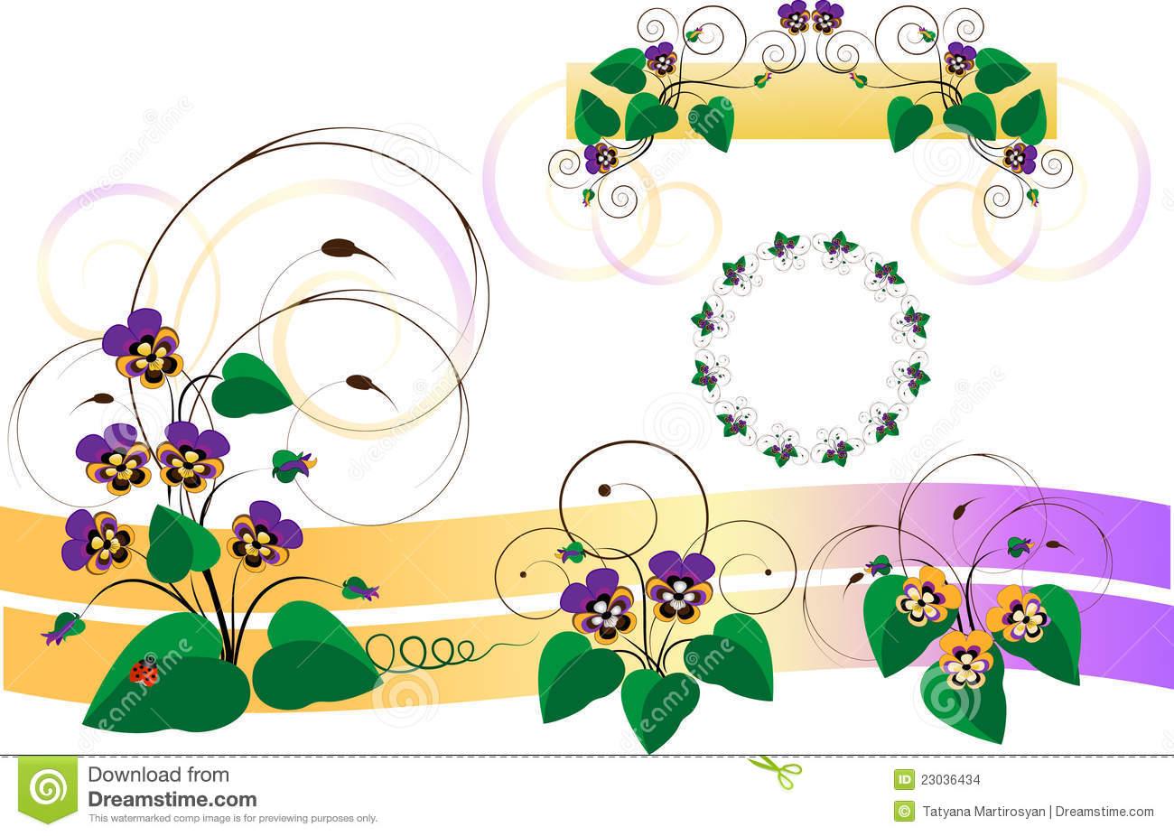 Auslegungteile Mit Blumensträußen Von VeilchenPansy.