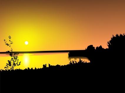 Sonnenuntergang ClipArts cliparts, clipart.