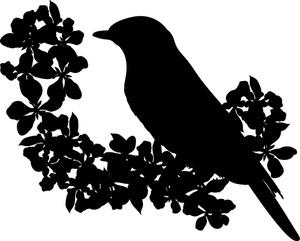 Songbird Clipart Image.