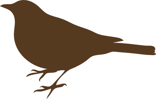 Brown Song Bird Clip Art at Clker.com.