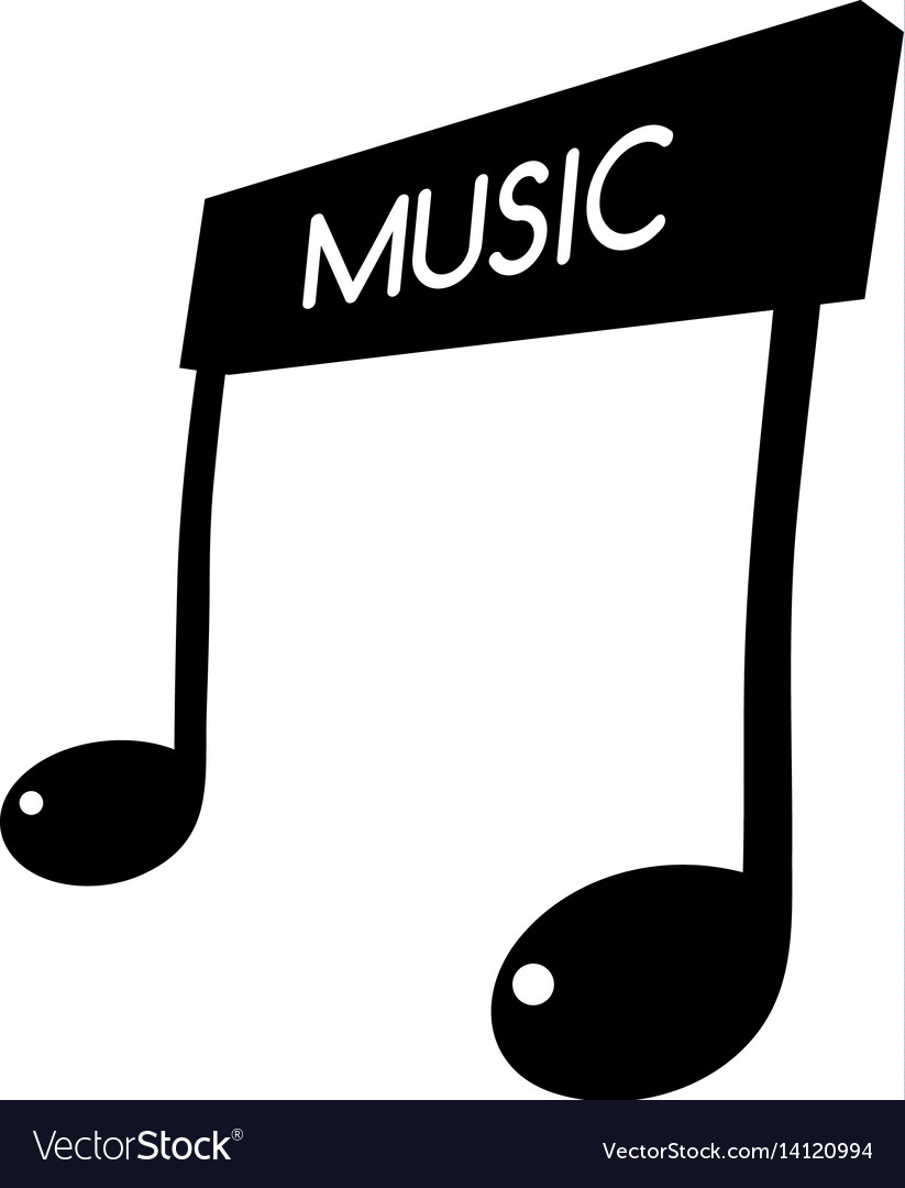 Music key note orchestra song logo logotype.