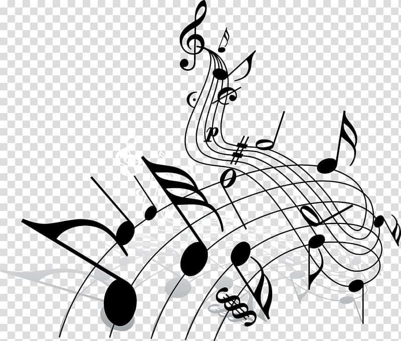 Music note illustration, Song Musical note , musical note.