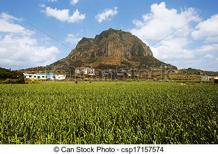 Picture of beautiful Jeju Island in South Korea,Songaksan.