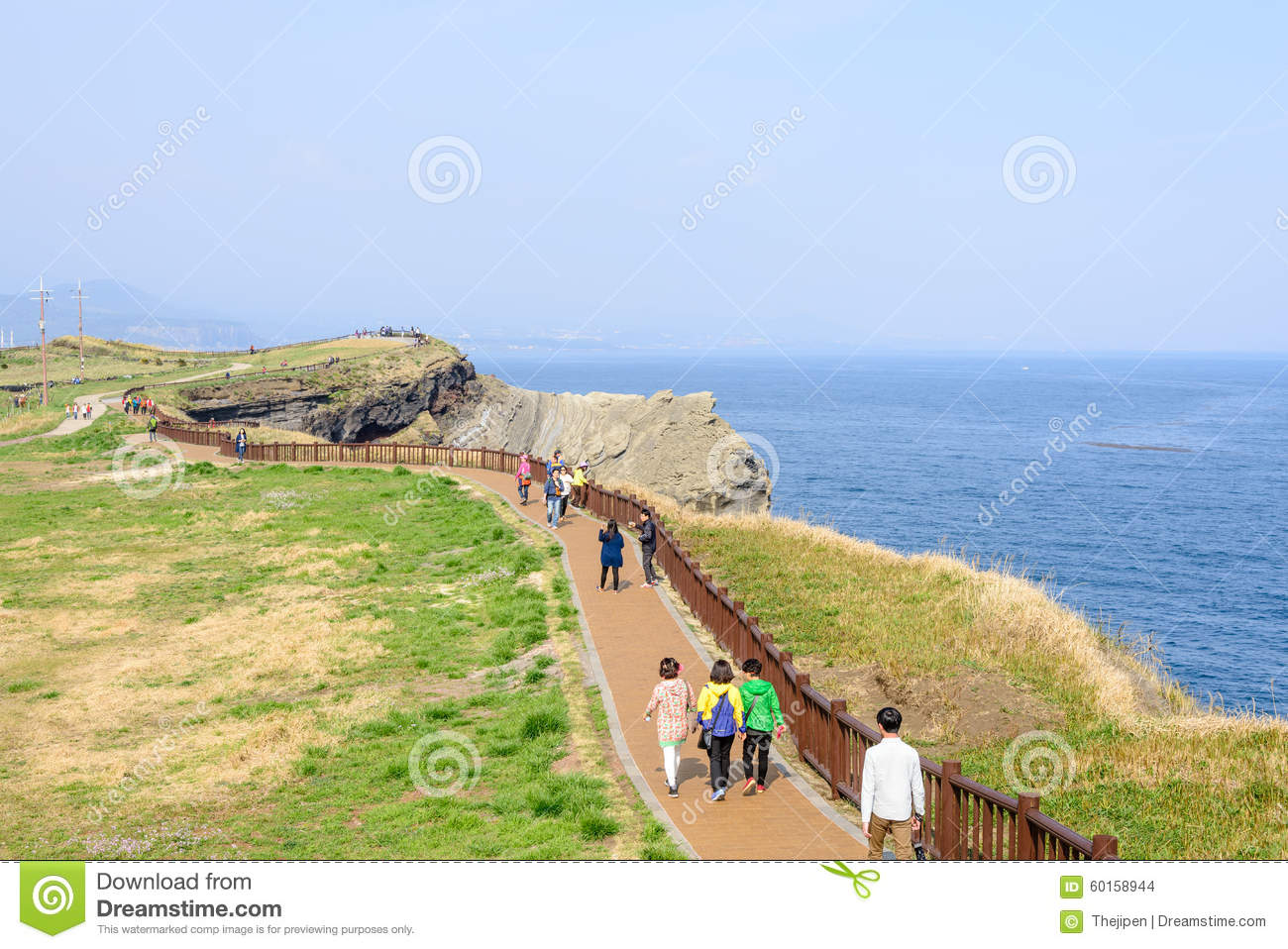 Olle No. 10 Course In Songaksan In Jeju Stock Photo.