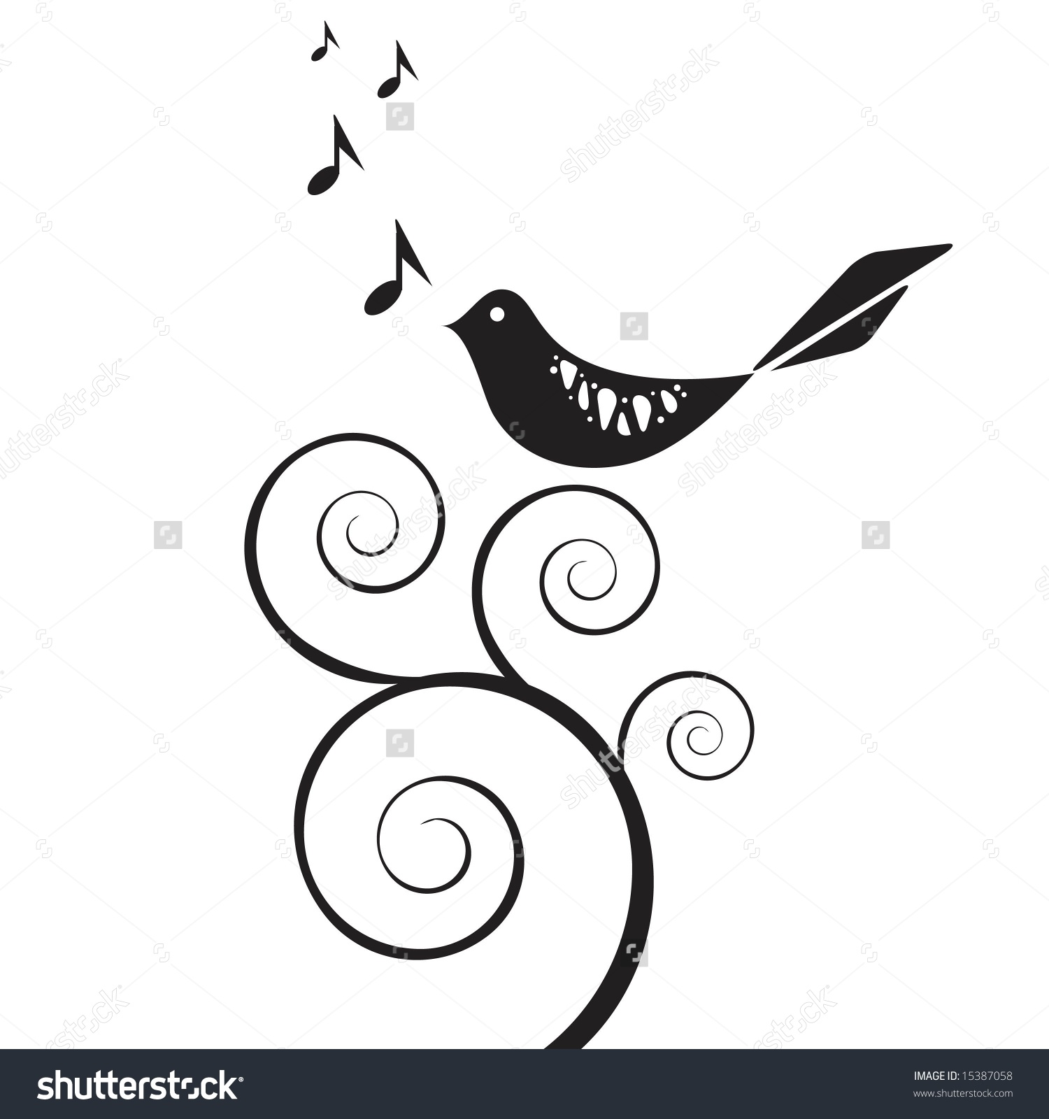 Songbird Clip Art.