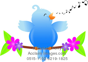 Showing post & media for Cartoon songbird clipart.