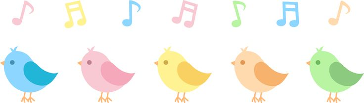 Five Cute Song Birds.