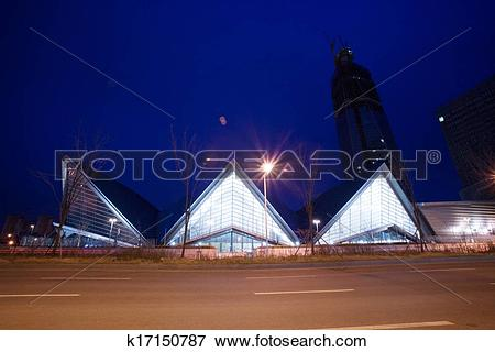 Picture of Beautiful night view in South Korea,Incheon, Songdo.