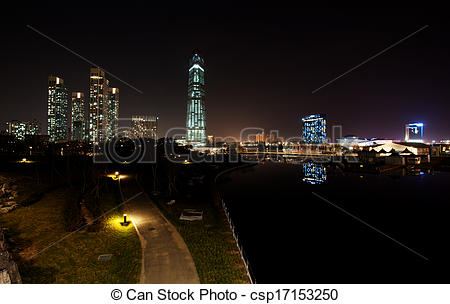 Stock Images of New City in South Korea,Song.