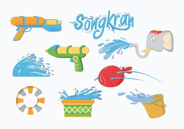 Songkran Vector.