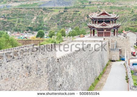 Sichuan Ancient Town Stock Photos, Royalty.