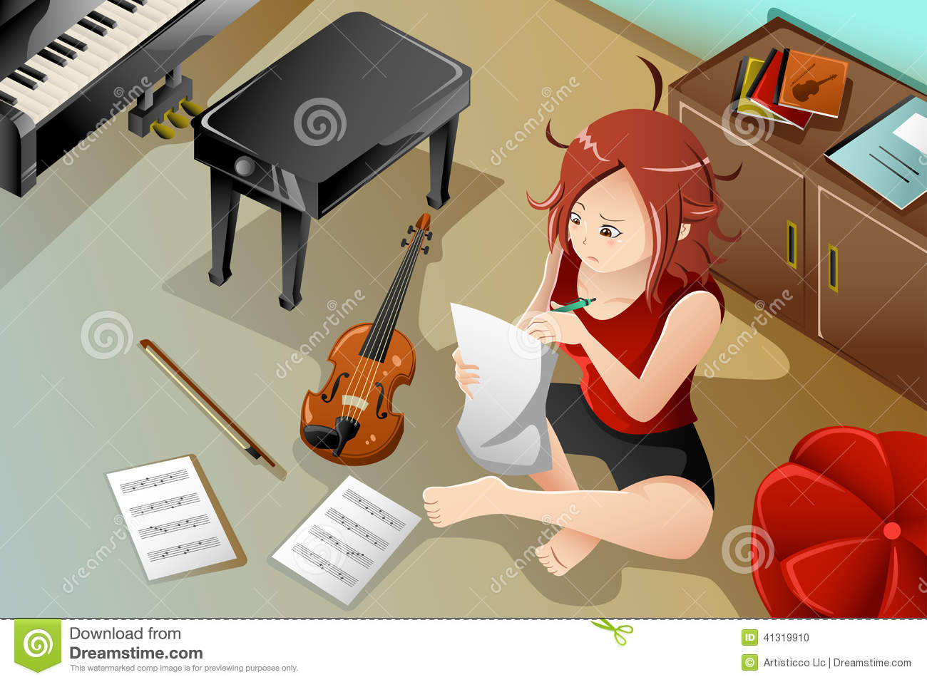 Songwriter clipart.
