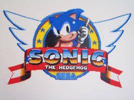 Sonic 1 Title Logo Bead Sprite by SerenaAzureth.