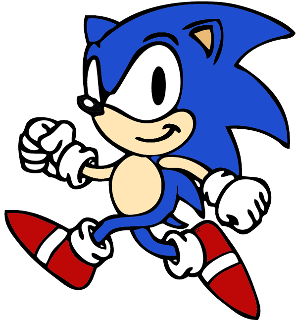 Sonic the Hedgehog Clip Art Images.