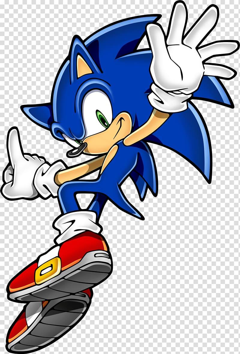 Sonic The Hedgehog illustration, Sonic Hedgehog Jumping.