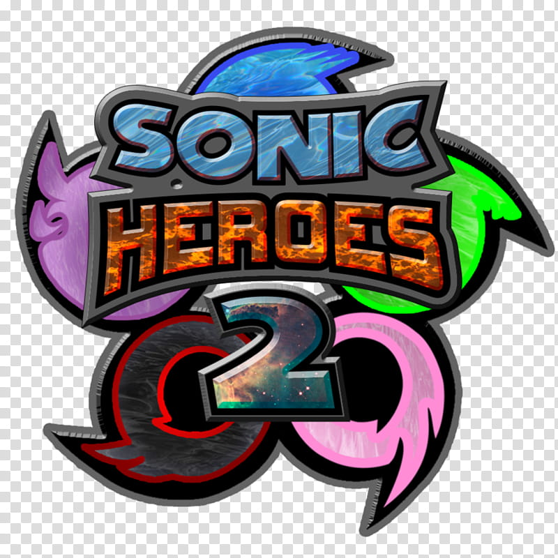 Sonic Heroes concept Logo, Sonic Heroes logo transparent.