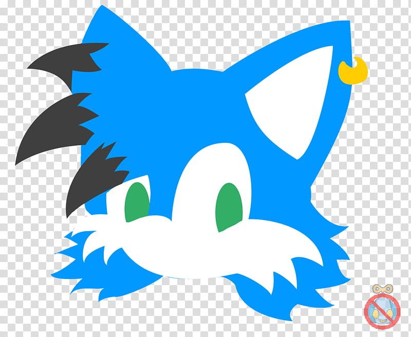 CM Echo Sonic Logo, blue and white fox head illustration.