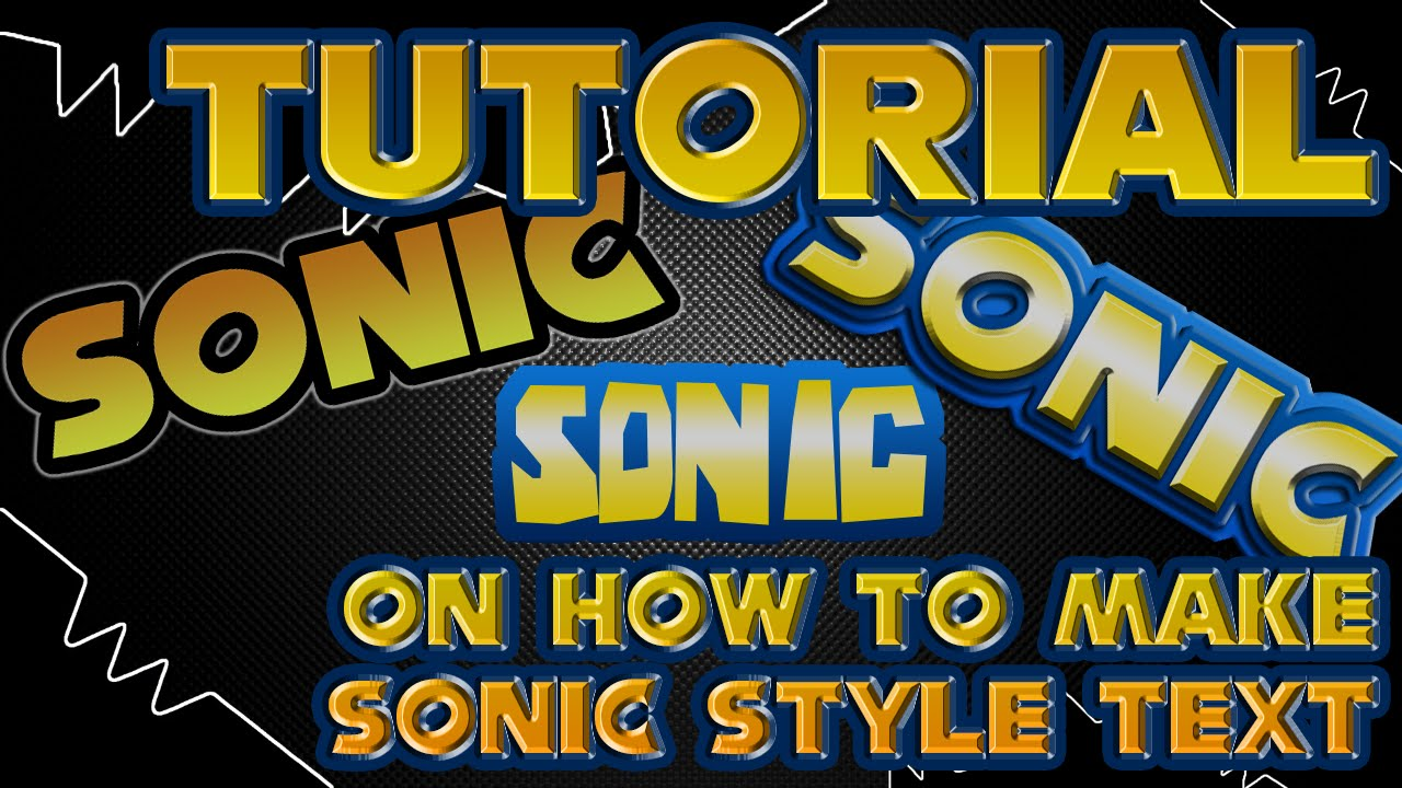 How to make Sonic Style text/Logo (TUTORIAL).