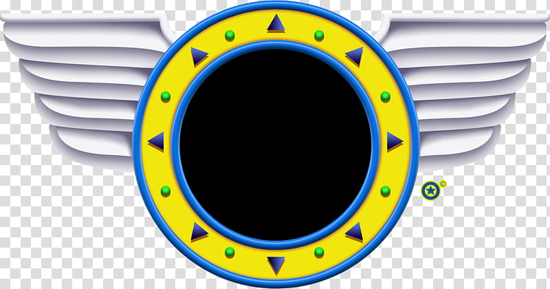 Sonic Mania Ring Template, yellow winged logo transparent.