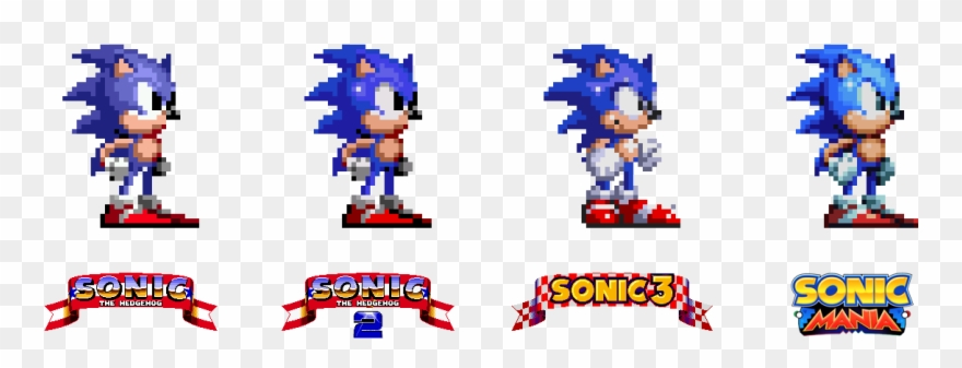 Sonic Mania Knuckles Sprites Clipart (#2081503).