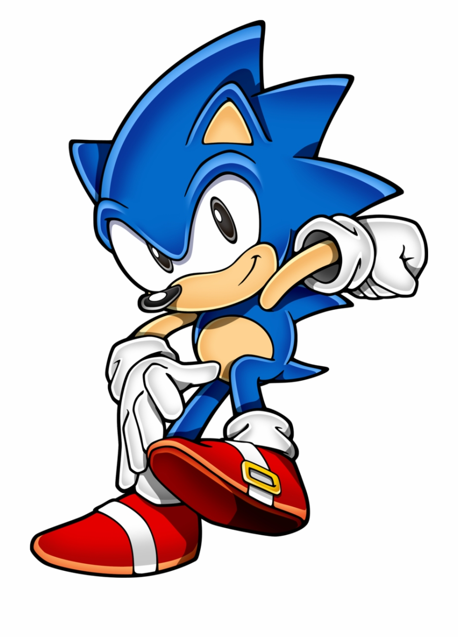 Download Free png Sonic The Hedgehog Clipart Classic Sonic.