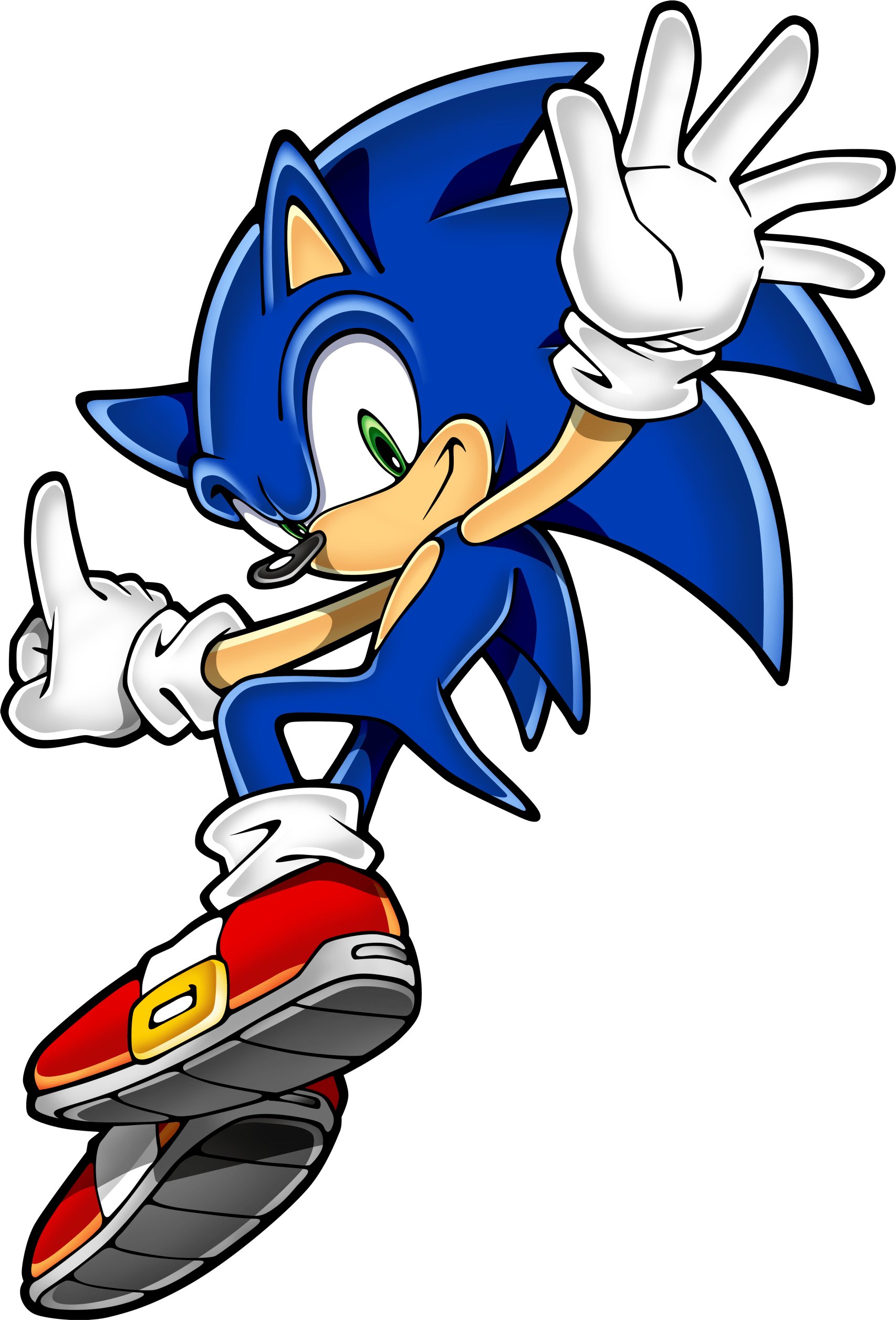 Sonic Hedgehog Jumping transparent PNG.