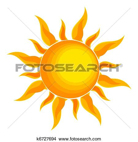 Clipart of Sun drawn k9156663.