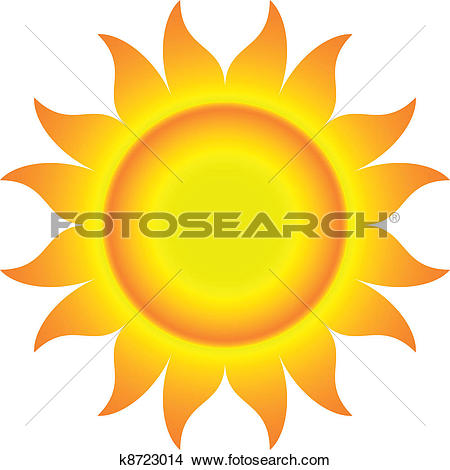 Clipart of Sun Wearing Sunglasses k2022573.