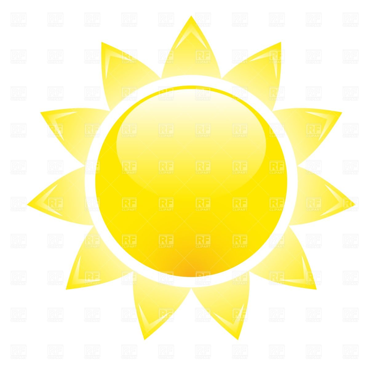 Glossy sun Stock Vector Image.