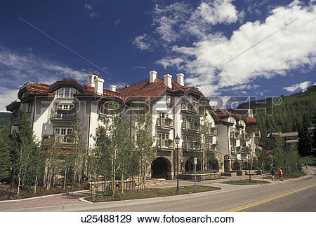 Stock Photograph of hotel, lodging, Vail, CO, Colorado, Sonnenalp.