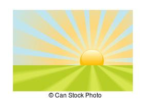 Sonnenaufgang Clip Art Vektor und Illustration. 25.060.