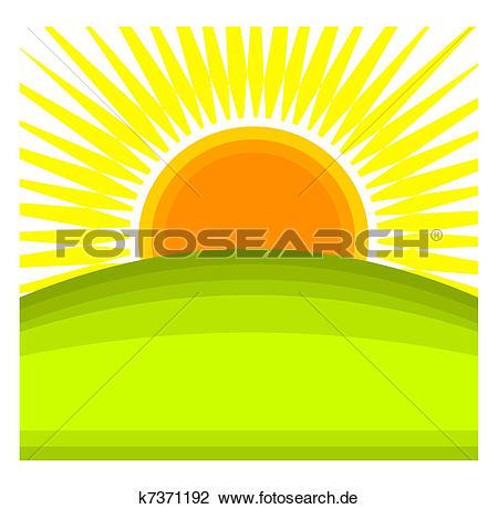 Sonnenaufgang Clip Art Lizenzfrei. 23.437 sonnenaufgang Clipart.