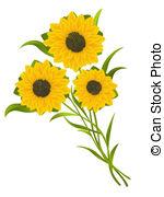 Sonnenblumen Illustrationen und Clip.