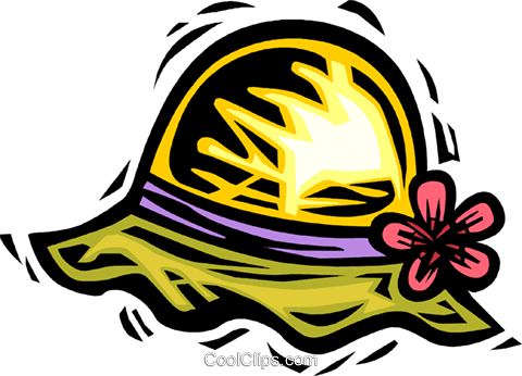 summer hat Royalty Free Vector Clip Art illustration.