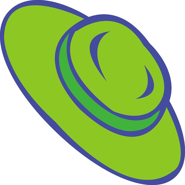 Kostenlose Vektorgrafik: Hut, Grün, Modisch, Stilvolle.