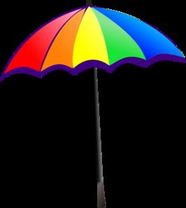 Rainbow Umbrella Clip Art at Clker.com.