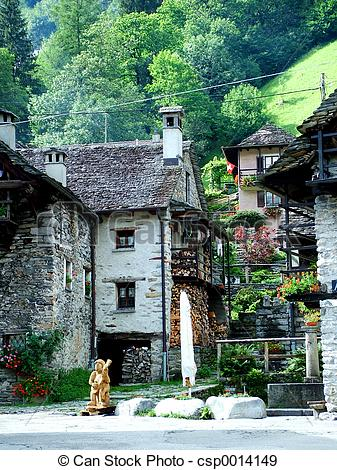 Stock Photographs of Sonogno verzasca.