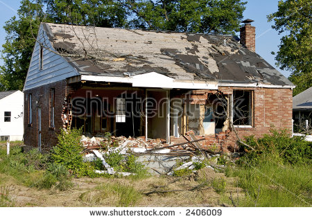 Abandoned House Near Salton Sea Lake Stock Photo 164530388.