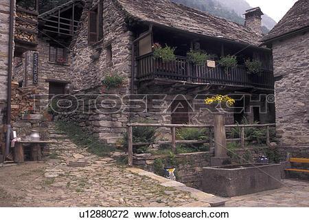 Stock Photo of Switzerland, Ticino, Sonogno, Val Verzasca, The.