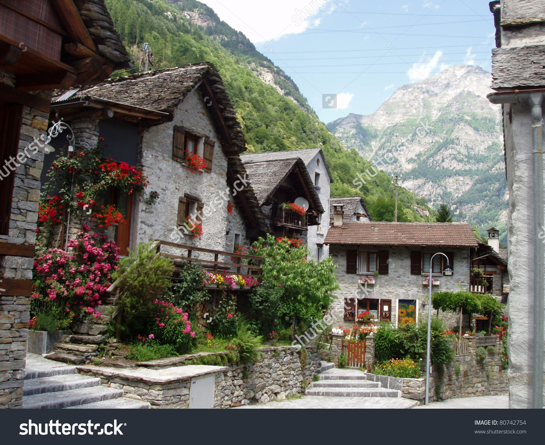 Sonogno Valle Versazca Switzerland Stock Photo 80742754.