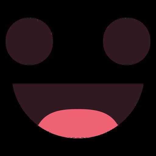 Sonrisa simple emoticon cara.