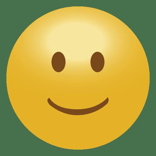 Emoji emoticon sonrisa 3D.