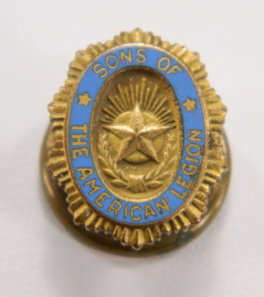 Sons of the American Legion Vintage Oval Lapel Pin Blue.