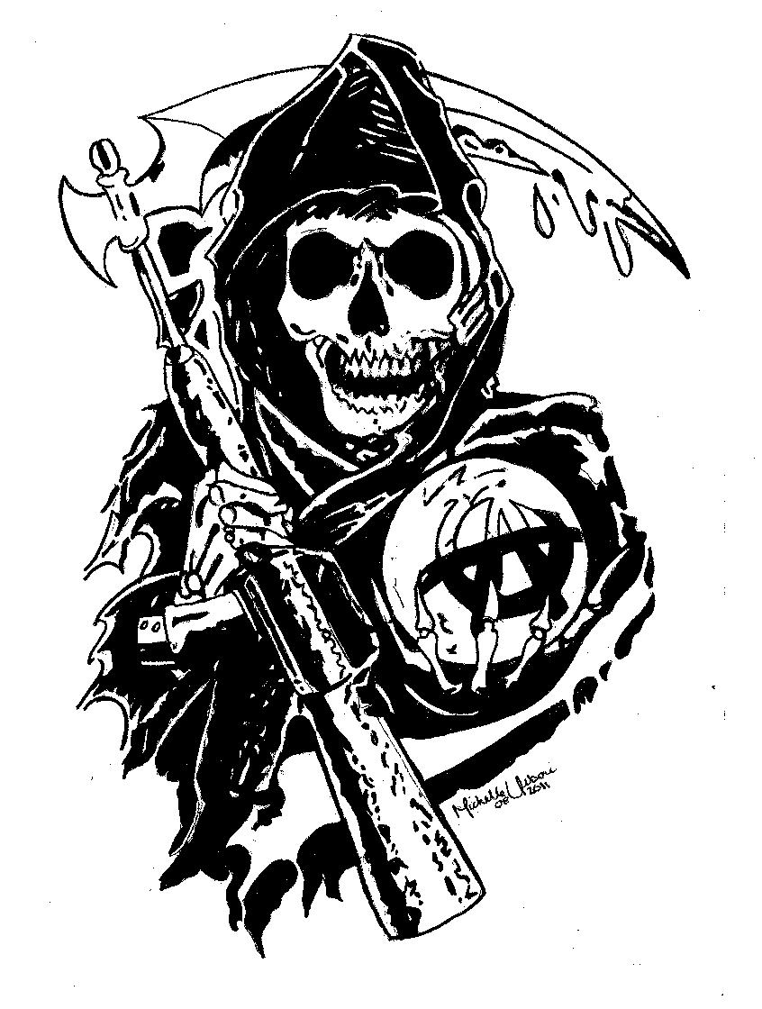 Download sons of anarchy reaper clipart Jax Teller Sons Of.