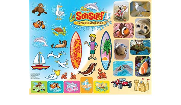 Sonsurf Stickers (Sonsurf Vbs): 9780830757695: Amazon.com: Books.