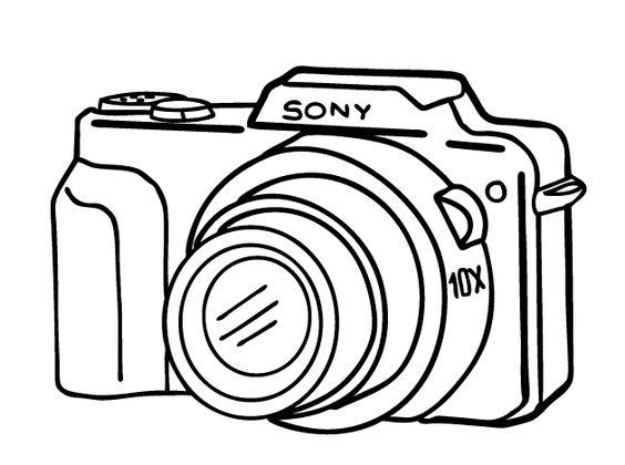 sony camera clipart